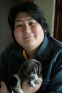 Karen Nakamura with Momo